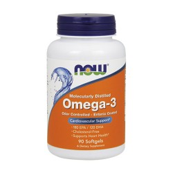 OMEGA-3 MOLECULARLY DISTILLED - 90kapslit