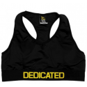 DEDICATED NUTRITION Women Sports Push-Up Bra - Black