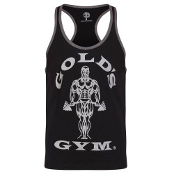 GOLD'S GYM Stringer Joe Contrast - Black/Grey