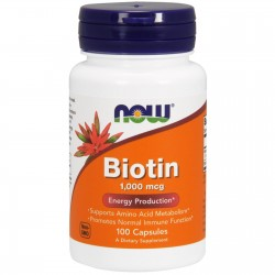 NOW Foods Biotin - 100 kapslit
