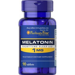 PURITAN'S PRIDE Melatoniin 1mg - 90 kapslit