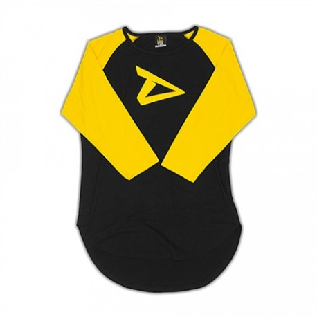 Dedicated 3/4 Sleeve Raglan Shirt Logo