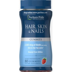 Puritan's Pride HAIR, SKIN AND NAILS GUMMIES - 80tk
