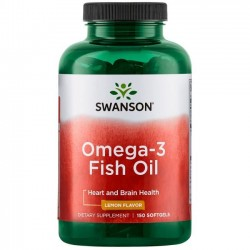 Swanson Omega-3 Fish Oil - lemon flavor - 150 softgel.