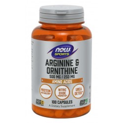NOW Foods Arginine & Ornithine - 100 kapslit