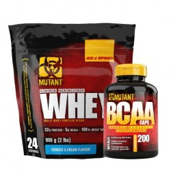 MUTANT Whey - 0,9kg + MUTANT BCAA 300caps.