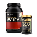 OPTIMUM NUTRITION 100% GOLD STANDARD WHEY 2,27kg + OPTIMUM NUTRITION Gold Standard BCAA Train + Sustain 266g
