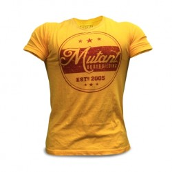 MUTANT T-shirt Yellow Classic Bodybuilding -