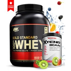 OPTIMUM NUTRITION 100% GOLD STANDARD WHEY 2,27kg+SCIVATION XTEND BCAA-425g